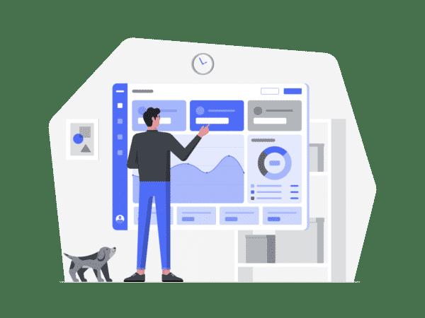 An illustration of Digital Marketing Dashboards